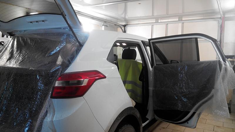 Тонировка задней полусферы Hyundai Creta