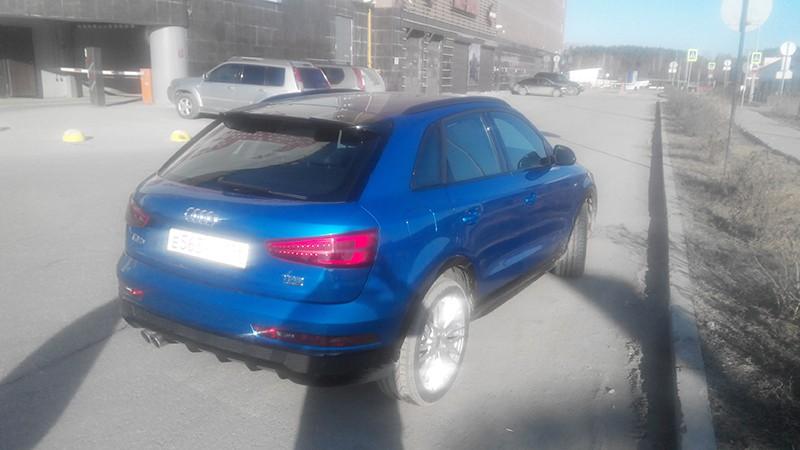 Тонировка в круг атермальной пленкой Audi Q3