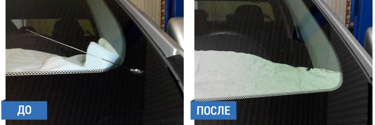 Технология ремонта трещины лобового стекла